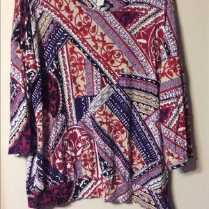 Chico's side tie blouse